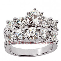 14K Gold Designer Diamond Engagement Ring Set 3.05ct