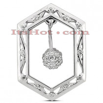 14K Gold Designer Diamond Pendant 0.25ct