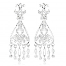 14K Gold Diamond Chandelier Earrings for Women 0.37ct