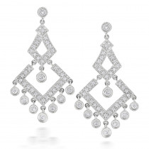 14K Gold Diamond Chandelier Earrings 0.77ct