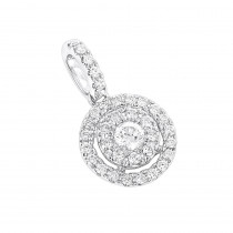 14K Gold Diamond Circle Pendant for Women by Luxurman 0.33ct