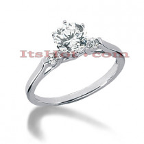 14K Gold Diamond Designer Engagement Ring 0.60ct