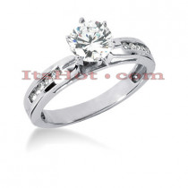 14K Gold Diamond Designer Engagement Ring 0.65ct