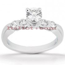 14K Gold Prong and Bar Set Diamond Designer Engagement Ring 0.70ct