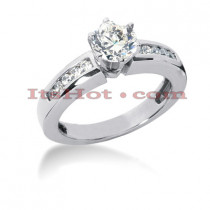 14K Gold Diamond Designer Engagement Ring 0.75ct