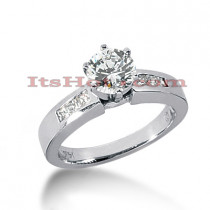 14K Gold Diamond Designer Engagement Ring 0.76ct