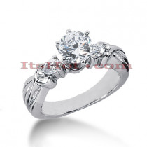 14K Gold Diamond Designer Engagement Ring 0.78ct