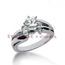 14K Gold Prong Set Diamond Designer Engagement Ring 0.78ct