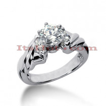 14K Gold Diamond Designer Prong Set Engagement Ring 0.80ct