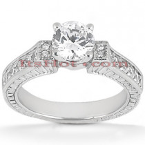 14K Gold Diamond Designer Engagement Ring 0.83ct