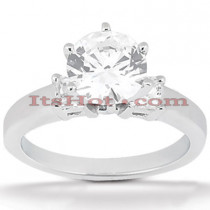 14K Gold Prong Set Diamond Designer Engagement Ring 0.84ct