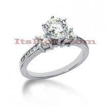 14K Gold Prong and Channel Set Diamond Designer Engagement Ring 0.84ct