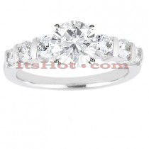 14K Gold Handmade Round Diamond Designer Engagement Ring 0.90ct