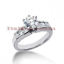 14K Gold 7 Stone Diamond Designer Engagement Ring 0.92ct