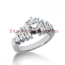 14K Gold Handmade Diamond Designer Engagement Ring 0.92ct