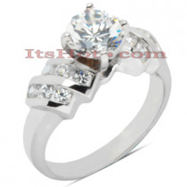 14K Gold Diamond Designer Engagement Ring 0.95ct