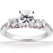 14K Gold Prong and Channel Set Diamond Designer Engagement Ring 0.98ct
