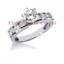 14K Gold Diamond Designer Engagement Ring 1.04ct