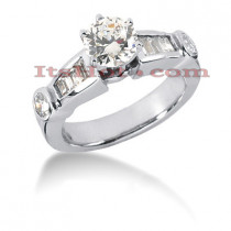 14K Gold Diamond Designer Engagement Ring 1.10ct