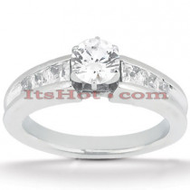 14K Gold Prong and Channel Set Diamond Designer Engagement Ring 1.14ct
