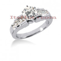 14K Gold Diamond Designer Engagement Ring 1.14ct