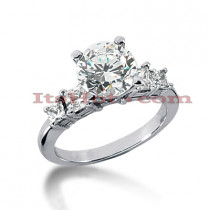 14K Gold 5 Stone Diamond Designer Engagement Ring 1.18ct
