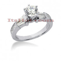 14K Gold Diamond Designer Engagement Ring 1.20ct