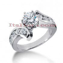 14K Gold Diamond Designer Engagement Ring 1.24ct