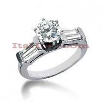 14K Gold Diamond Designer Engagement Ring 1.50ct