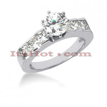 14K Gold Diamond Designer Engagement Ring 1.52ct