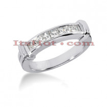 Thin 14K Gold Diamond Designer Engagement Ring Band 0.35ct