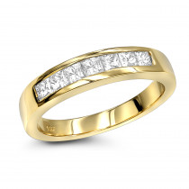Thin 14K Gold Diamond Designer Engagement Ring Band 0.45ct