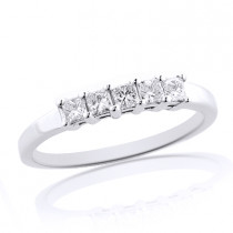 Thin 14K Gold Diamond Designer Engagement Ring Band 0.50ct