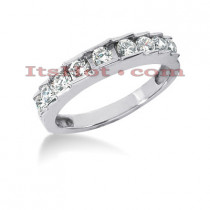 Thin 14K Gold Diamond Designer Engagement Ring Band 0.64ct