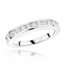 Thin 14K Gold Diamond Designer Engagement Ring Band 0.65ct