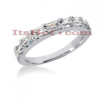 Thin 14K Gold Diamond Designer Engagement Ring Band 0.87ct