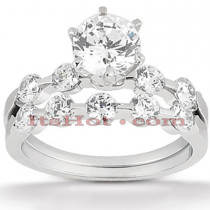 14K Gold Diamond Designer Engagement Ring Set 0.27ct
