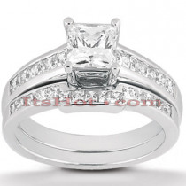14K Gold Diamond Designer Engagement Ring Set 0.82ct