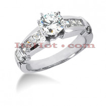 14K Gold Diamond Designer Engagement Ring Set 2.40ct