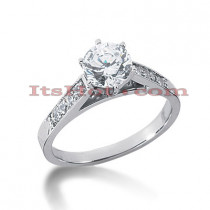 14K Gold Diamond Engagement Ring 0.66ct