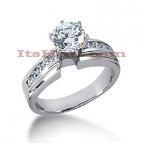 14K Gold Handmade Diamond Engagement Ring 0.74ct