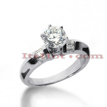 14K Gold Diamond Engagement Ring 0.78ct