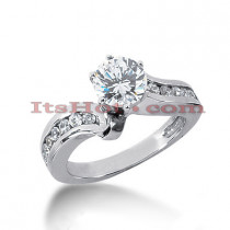 Handmade 14K Gold Diamond Engagement Ring 0.90ct