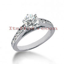 14K Gold Round Handmade Diamond Engagement Ring 0.90ct