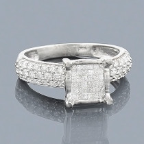 14K Gold Diamond Engagement Ring 0.95ct