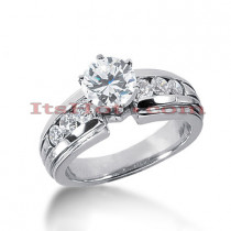 14K Gold Round Diamond Engagement Ring 0.98ct