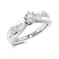 Affordable Round Cut Diamond Engagement Ring 1.24ct 14k Gold