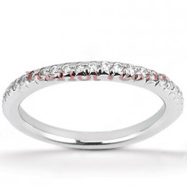 Thin 14K Gold Diamond Engagement Ring Band 0.49ct