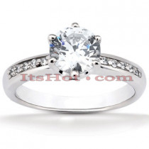 14K Gold Diamond Engagement Ring Mounting 0.07ct