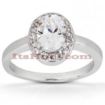 Halo 14K Gold Diamond Engagement Ring Mounting 0.12ct